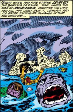 Sinking of Atlantis in Marvel Comics