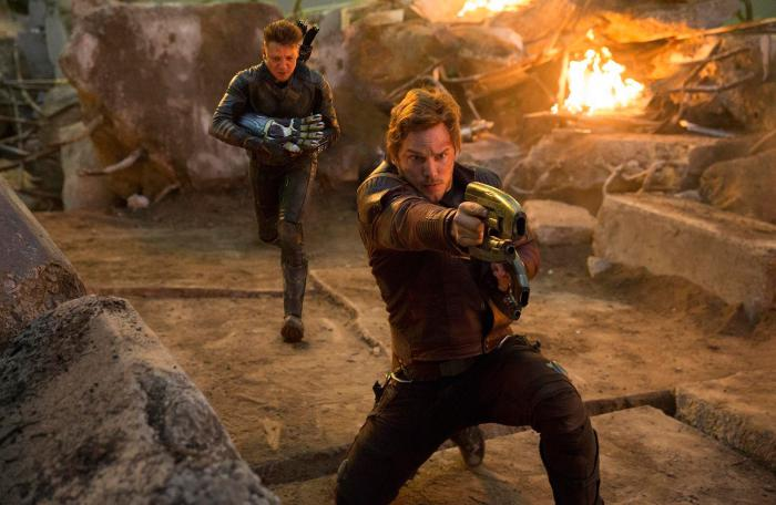Image of Hawkeye / Hawkeye and Star-Lord in Avengers: Endgame (2019)