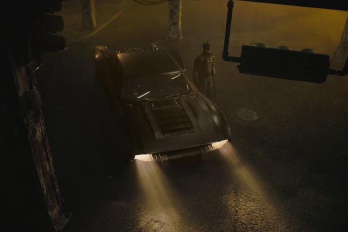 Image of the Batmobile in The Batman (2021)