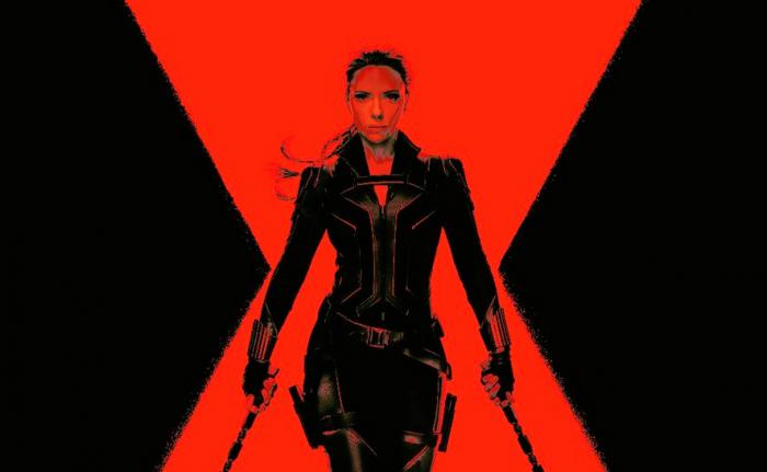 Cut out of the cover for subscribers of Total Film magazine dedicated to Black Widow (2020)