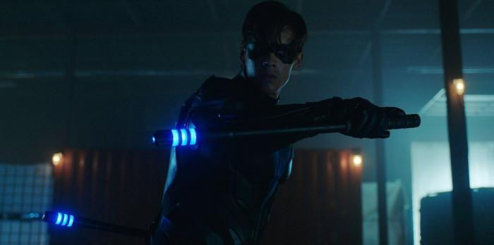 Image of Nightwing in the discarded ending of the first season of Titans