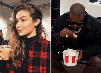 Celebs Eating In Foreign