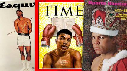 Historical covers dedicated to Muhammad Ali