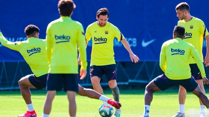 Messi returned to show his magic in the last training sessions of Barcelona before the duel against Mallorca