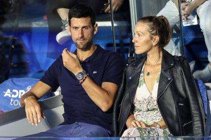 Djokovic and his wife, Jelena, tested positive for coronavirus (Reuters)