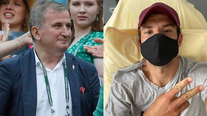 The world's number one father had blamed Dimitrov for being the source of all the contagions