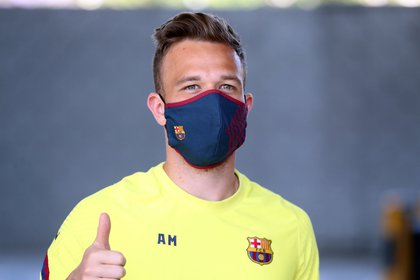 FC Barcelona Brazilian midfielder Arthur Melo at Ciutat Esportiva Joan Gamper - EFE / FC BARCELONA / Migul Ruiz
