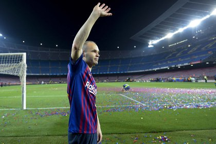 With Barcelona, Iniesta won 32 trophies (AFP)