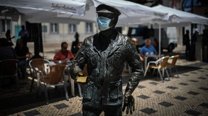 In Portugal the use of masks is mandatory in closed places (AFP)