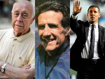 Seven Argentines were chosen among the best 100 coaches in football history