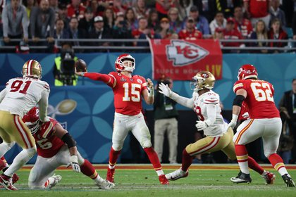Mahomes in action during the last Super Bowl. Now signed the richest contract in the history of professional sports (REUTERS / Shannon Stapleton)