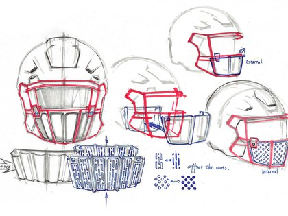 These are the new helmets that will be worn in the NFL during the pandemic (AP)