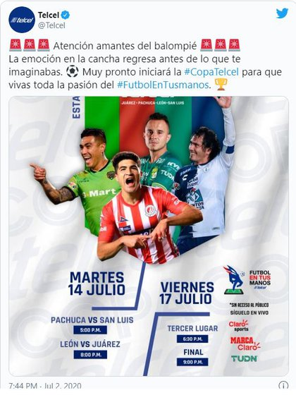 All matches will be held at the León stadium (Screenshot: Twitter / Telcel)