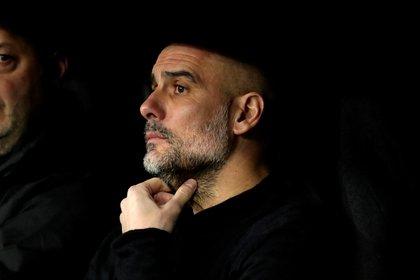 Manchester City coach Pep Guardiola (EFE)