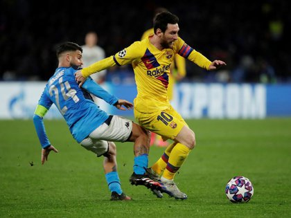 Messi's Barcelona will collide with Napoli for the rematch of the round of 16 (REUTERS / Ciro de Luca)