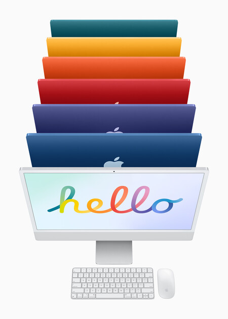 The 6 + 1 colors of the new iMac 2021 that pay homage to the original iMac and the Apple logo - Asap Land