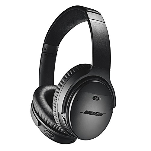 Bose QuietComfort 35 Bluetooth Noise Canceling Headphones II: Wireless On-Ear Headphones with Built-in Microphone and Alexa Voice Control, Black