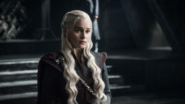 Emilia Clarke as Daenerys Targaryen in HBO's Game of Thrones.
